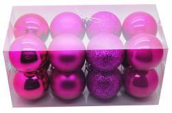 Boite de 16 Boules de Noël de couleur Fuschia pas cher