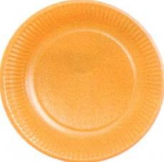 assiettes en carton de couleur orange