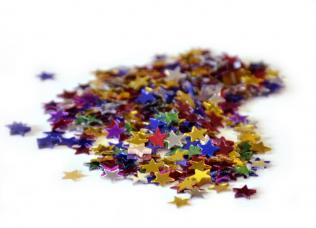 confettis metallique forme étoiles