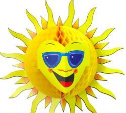Décoration soleil en papier