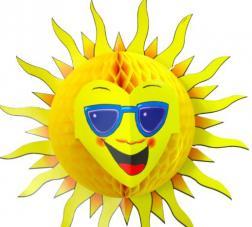 decoration soleil papier alveole