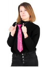 cravate paillettes lumineuse