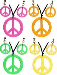 Collier hippie et boucles d'oreilles pas cher