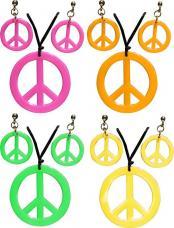 collier hippie et boucles d'oreilles