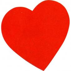 deco coeur en carton rouge