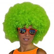 perruque afro verte adulte