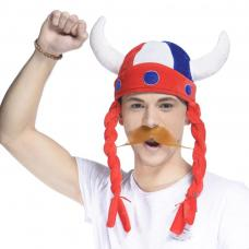 chapeau viking tricolore