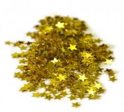 Confettis étoiles or