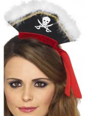 serre tete mini chapeau pirate
