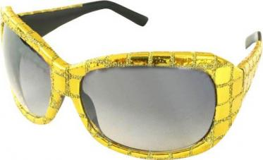 lunettes disco or pailletees