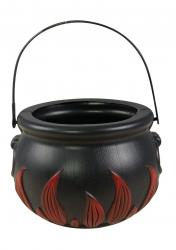 Chaudron décoration avec flammes