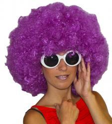 Perruque Afro Violette pas cher