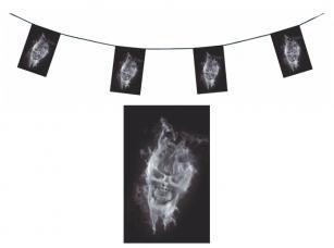 guirlande squelette fantôme en papier ignifugé