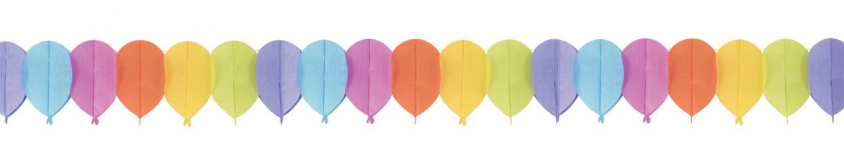 guirlande multicolore papier ballon