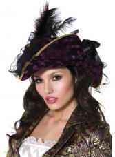 chapeau pirate noir et violet