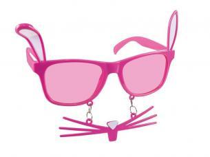 lunettes lapin rose avec moustache