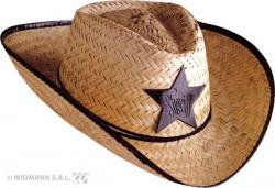 Chapeau Cowboy Shérif Paille pas cher