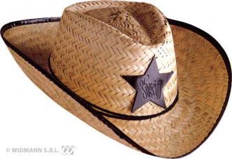 chapeau cowboy sherif paille