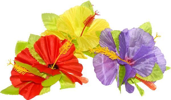 Fleur hibiscus pour cheveux - Fleure hawaienne ...