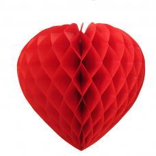 coeur papier alveole rouge ignifuge