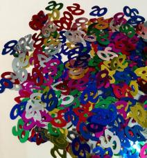 Confettis de table chiffre 20