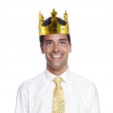 couronne de roi pvc or