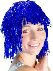 Perruque Métallisée Bleue pas cher