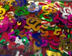 Confettis numéro 25 multicolores