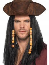 chapeau capitaine pirate marron