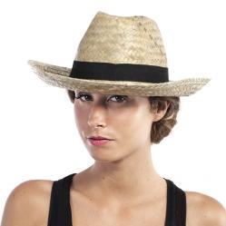 chapeau de cowboy paille naturel adulte pas cher
