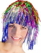 perruque metallisee multicolore