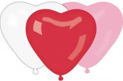 Sachet de 10 Ballons Coeur Multicolors