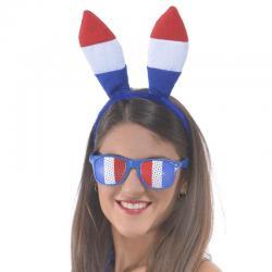 Serre tête lapin tricolore pas cher