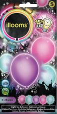 ballons pastels lumineux led multicolors