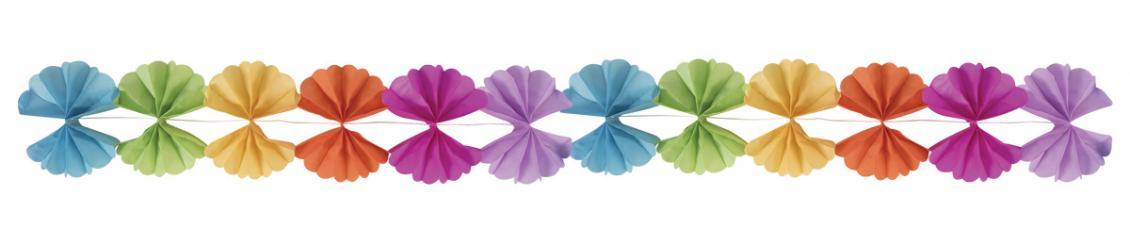 guirlande multicolore papier evantail