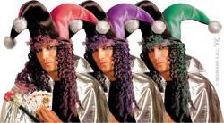Chapeau Joker avec perruque