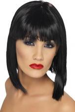 perruque glam noir