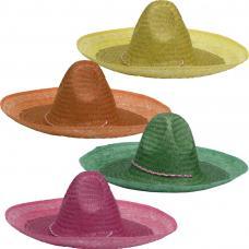 chapeau mexicain couleur unie