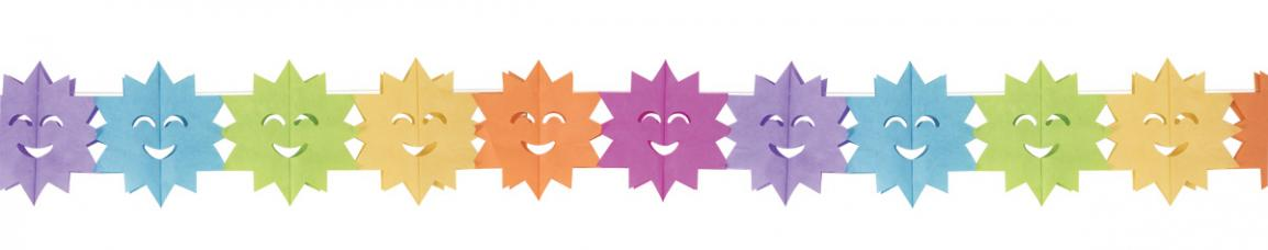guirlande multicolore papier soleil