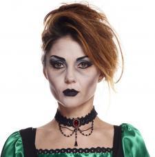 collier gothique noir dentelle