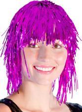 perruque metallisee rose