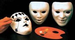 Lot de masques enfant à peindre