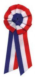 Cocarde tricolore tissu avec pans
