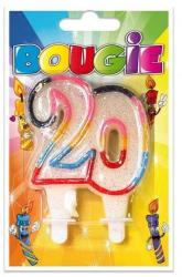 Bougie anniversaire 20 ans pas cher