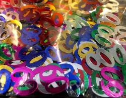 Confettis numéro 60 multicolores
