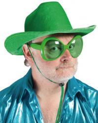 Lunettes mouche en plastique de couleur verte