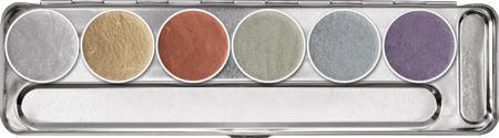 Palette aquacolor métallique 6 couleurs