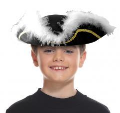 chapeau tricorne noir pirate enfant