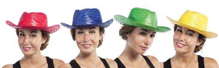 chapeau cowboy paille frange
