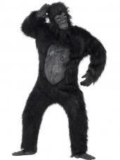 deguisement gorille mascotte luxe